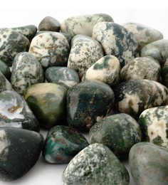 Decor Pebbles Green & White Stones Pebbles - 2 Boxes