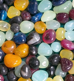Decor Pebbles Multicolour Stones Pebbles- 2 Boxes