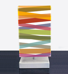 Cross Stripes Designed Table Lamps In Rainbow Color By Nutcase