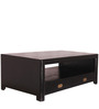 Deborah Two Drawer Coffee Table in Espresso Walnut Finish by Woodsworth