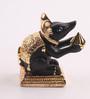 Decardo Black & Gold Terracotta Mini Modak Rat Statue