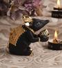 Decardo Black & Gold Terracotta Small Modak Rat Statue