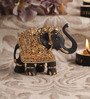 Decardo Grey & Gold Terracotta Small Elephant Statue