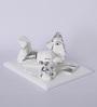 Decardo White & Silver Plated Terracotta Idol