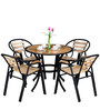 Deck 4-Seater Dining Set in Natural Finish by Royal Oak