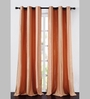 Deco Essential Peach Jacquard Stripes 90 x 46 Inch Single Panel Door Curtain - Set of 2