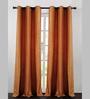 Deco Essential Orange Polyester 90 x 46 Inch Dot Box Door Curtain - Set of 2