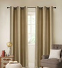 Deco Essential Sage Polyester 46 x 90 Inch Jacquard Eyelet Door Curtain - Set of 2