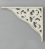 Deco Home White Aluminium 6 x 7 Inch Boroque Shelf Bracket