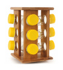 Deco Pride Cylindrical Spice Rack with 9 Jars