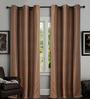 Deco Window Brown Polyester 46 x 90 Inch Door Curtain - Set of 2