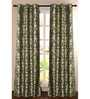 Deco Essential Green Polyester 90 x 46 Inch Door Curtain - Set of 2