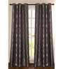 Deco Essential Purple Polyester 90 INCH Door Curtain - Set of 2
