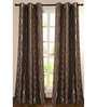 Deco Essential Brown Polyester 60 INCH Window Curtain - Set of 2