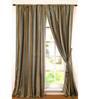 Deco Window Green Polyester 96 INCH Door Curtain - Set of 2