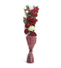 Decoaro Red Bamboo Floral Bouquet