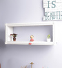 Decorhand White Wood & MDF Carving Work Wall Shelf