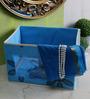 Decorika Canvas Blue 4 L Medium Universal Multipurpose Storage Box