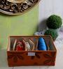 Decorika Canvas Orange Clothes Organiser