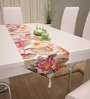 Decorika Multicolour Cotton Floral Table Runner
