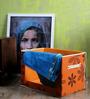 Decorika Canvas Orange 4 L Big Universal Multipurpose Storage Box