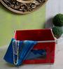 Decorika Canvas Red 2 L Small Universal Multipurpose Storage Box