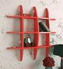 AYMH Red MDF Wall-Mounted Shelf