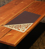 Decotrend Triangle Gold & Brown MDF Table Mat