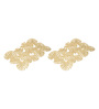 Decotrend Tropical Golden Synthetic PU Mat - Set of 2