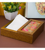 Decotrend Zari Pink Synthetic Wood Tissue Holder