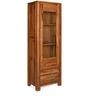 Delmonte Curio Book Case Left Door in Walnut Finish by @home