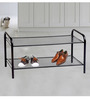 Deneb Steel Black 2 Tier Shoe Rack