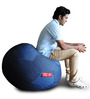Denim Football Bean Bag (Cover Only) XXXL size in Blue Colour  by Style Homez