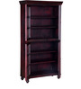 Denison Book Case in Passion Mahogany Finish by Amberville