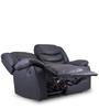 Denver Two Seater Recliner in Jet Black Colour by Durian