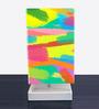 Nutcase Multicolour Fabric Abstract Art Designed Table Lamp