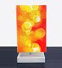 Nutcase Yellow & Orange Fabric Abstract Art Designed Table Lamp