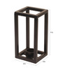 Designmint Black Metal Cube Tea Light Holder