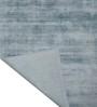 Designs View Blue Viscose & Cotton 48 x 72 Inch Handloom Solid Carpet