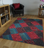 Designs View Multicolour Turkish Imported Wool 91 x 63 Inch Antique Hand Made Turkish Over Dyed Patch Work Kilims Carpet