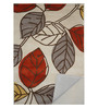 Designs View Multicolour Wool 90 x 60 Inch Hand Tufted Leaf Design Area Rug