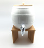 Devnow London Beverage Wood & Porcelain 2.5 L Dispenser with Bamboo Stand