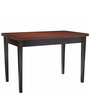 Dexter Four Seater Dining Table in Brown & Black Colour by Asian Arts
