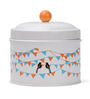 Deziworkz Flag And Birds Design 1000 ML Cookie Jar