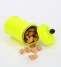 Deziworkz Neon Yellow Cylindrical 350 ML Mini Jar