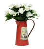 Deziworkz Red Victorian Flower Arranging Pitcher