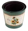 Deziworkz Round Sea Green Victorian planters/tubs (Set of 3)
