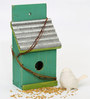 Deziworkz Decorative Wooden Green Birdhouse