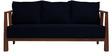 Dijon Three Seater Sofa in Navy Blue Colour by Auspicious