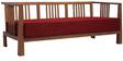 Dijon Three Seater Sofa in Red Colour by Auspicious